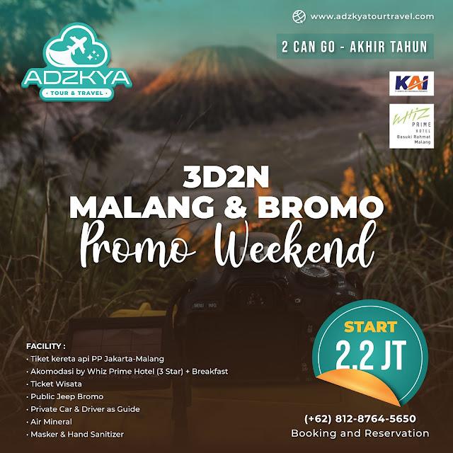 Adzkya Tour Travel 3d2n Promo Akhir Tahun Bromo Malang