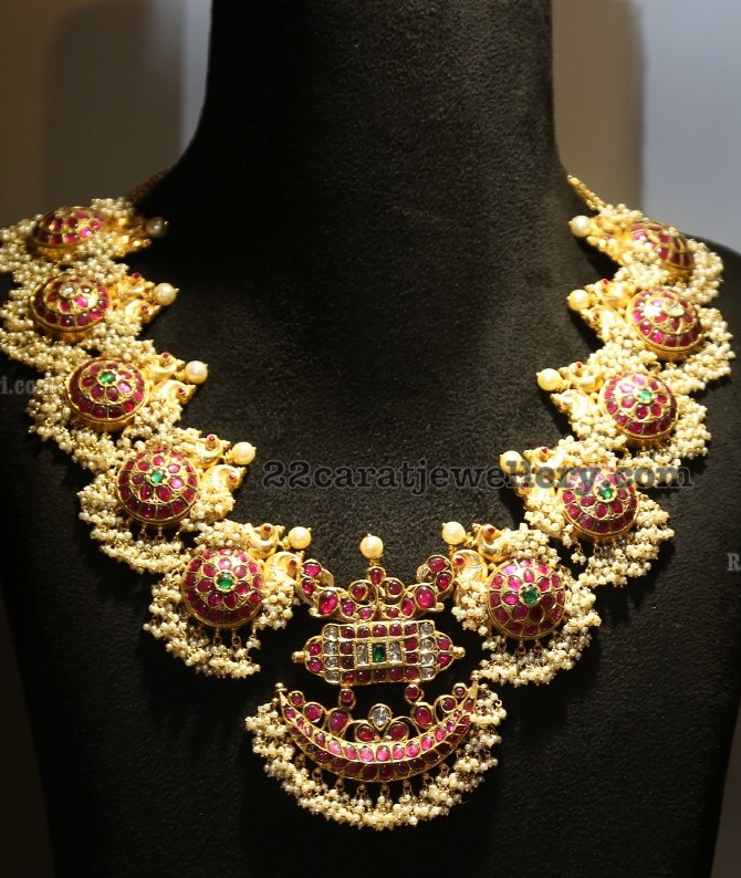 e0d1e0b6ad80c Ruby Temple Jewelry with Small Pearls - Jewellery Designs