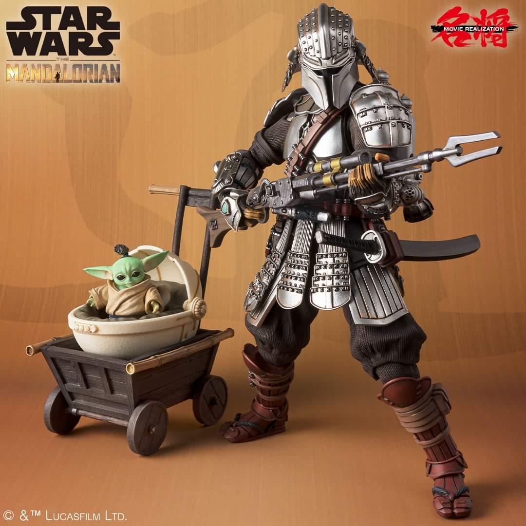 The Mandalorian - Star Wars Meisho Movie RealizationRonin Mandalorian in Beskar Armor with Grogu (Tamashii Nations)