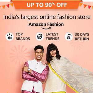 Upto 90% off on India's largest online fashion store - Amazon Fashion