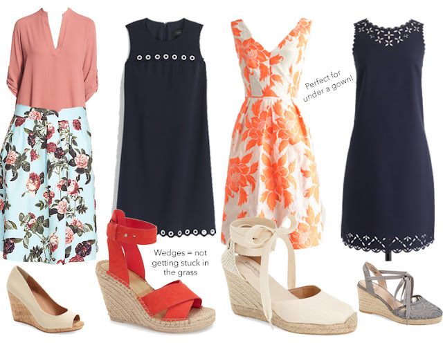 graduation, outfits, ootd, graduation dress, what to wear under a graduation gown, what do I wear to graduation, j crew factory laser cut dress, soludos wedges, nordstrom, j crew dress, red wedges, floral skirt, grommet dress