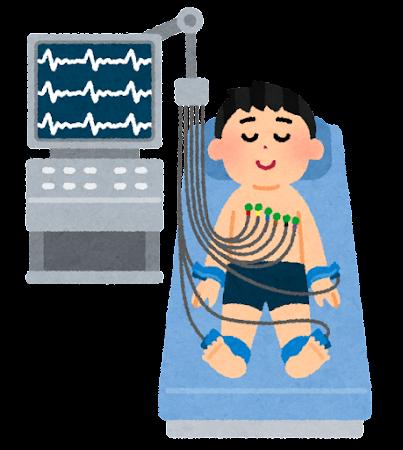 心電図検査のイラスト