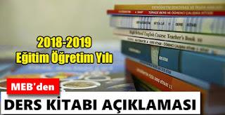 2018-2019 Eğitim Öğretim Yılında Okutulacak Ders Kitapları