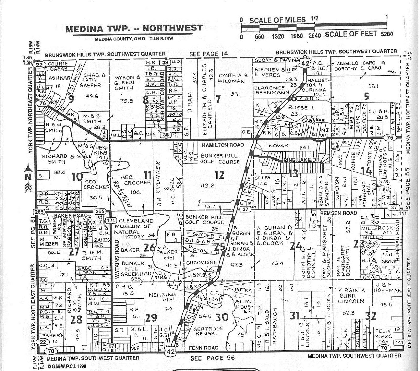 plat maps show land ownership also listed here is the acreage of each portion of land