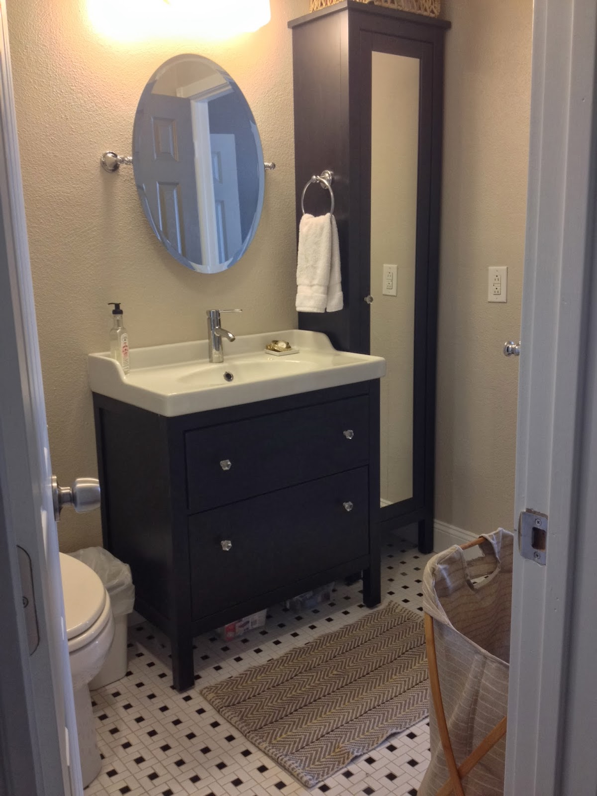 Bathroom remodel reveal lindsey does - Vanities for small bathrooms ikea ...