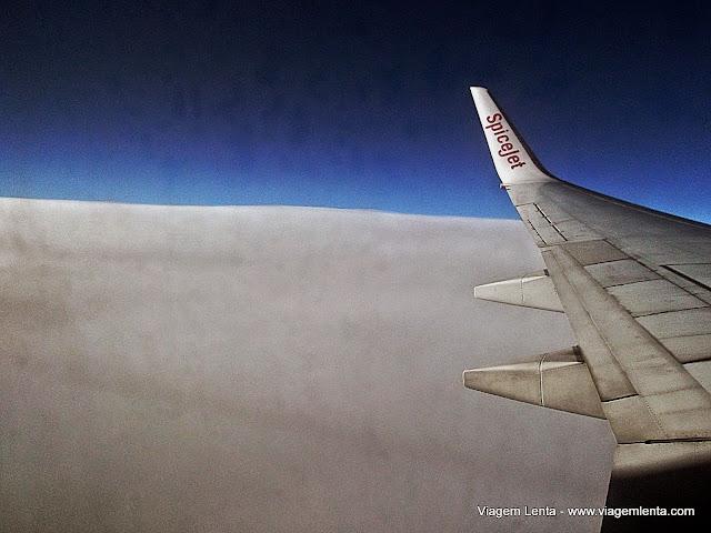 Daqui não vi o Himalaia, mas o tapete branco estava belo!