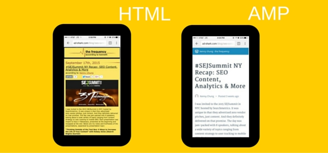 differences between HTML and AMP