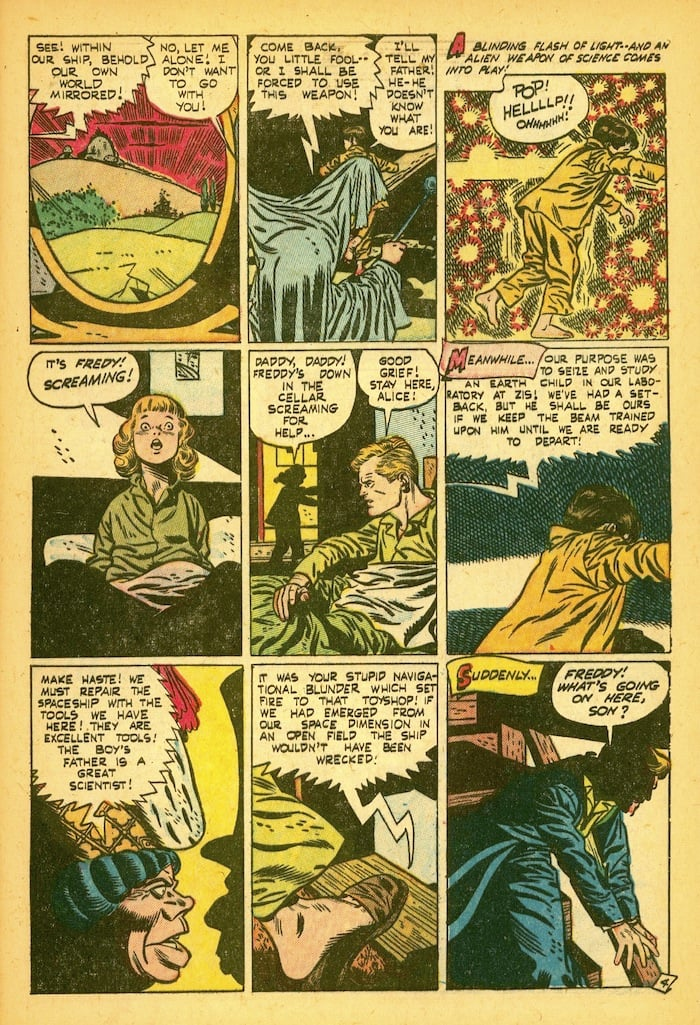 Lost Worlds #5 golden age standard comics horror page by Alex Toth
