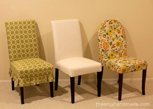 Freshly Handmade Parsons Chair Slipcover, Parson Chair Cover Pattern