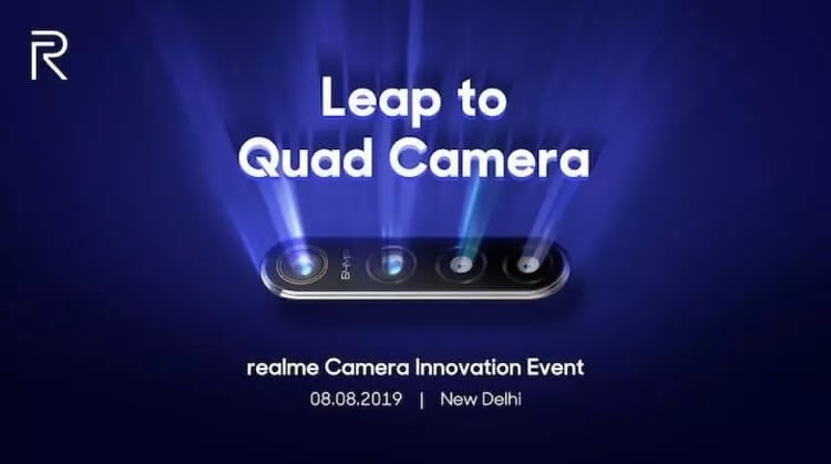 Realme Teases 64MP Quad Camera Smartphone
