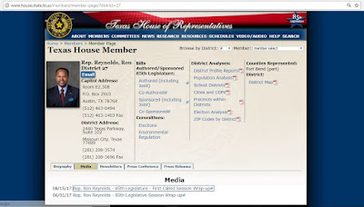 Texas House Rep. Ron Reynolds - Link to official web page