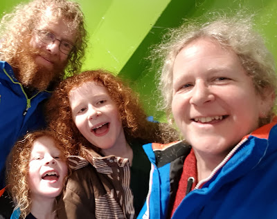 My family and me with huge smiles at Chill Factore Manchester 2019