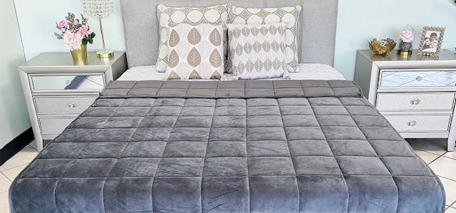 good night rest best organic weighted blanket sleep better reduce anxiety