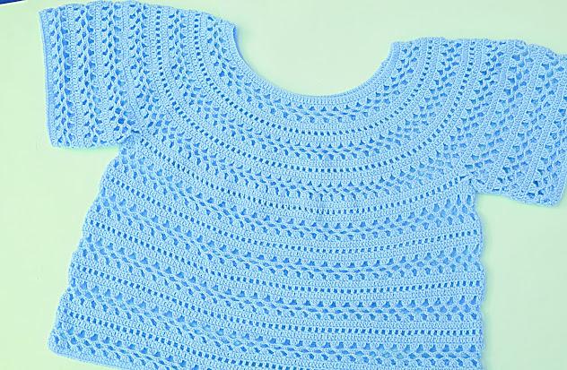 6 - Crochet Imagen Cuerpo de blusa y jarsey a crochet por Majovel Crochet