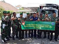 Kodim Yogya Serahkan Bantuan untuk Korban Gempa Lombok