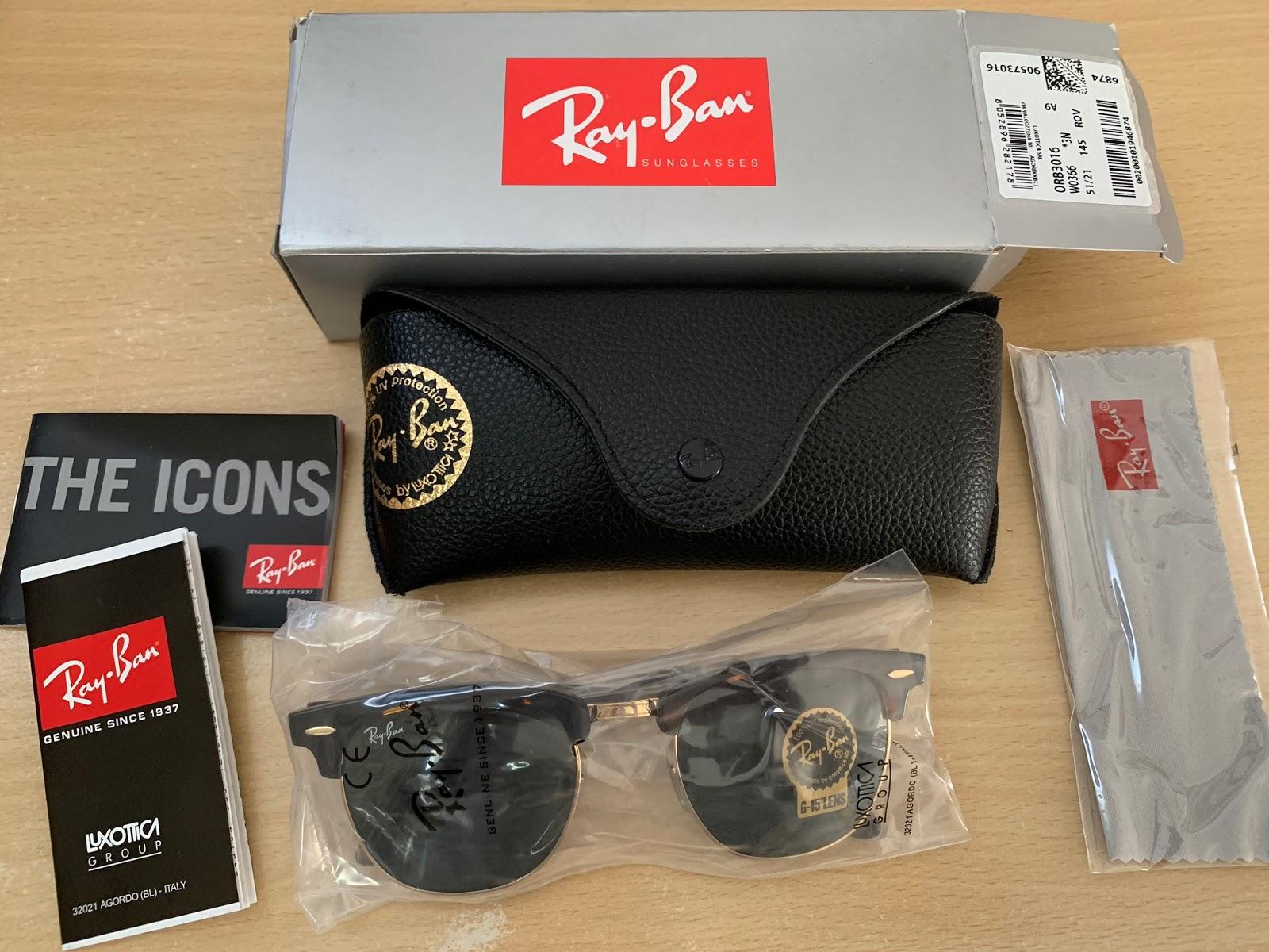 RB3016 W0366 Kính râm Ray-Ban chính hãng Ray-Ban Clubmaster Classic - 2