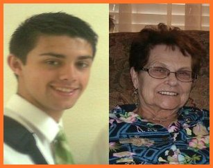 Elder Minson and his loving grandma