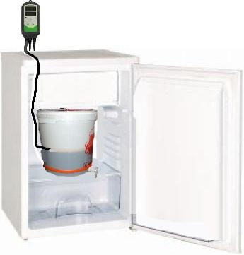 Homebrewingcondor camera di fermentazione con frigorifero - Frigorifero da camera ...