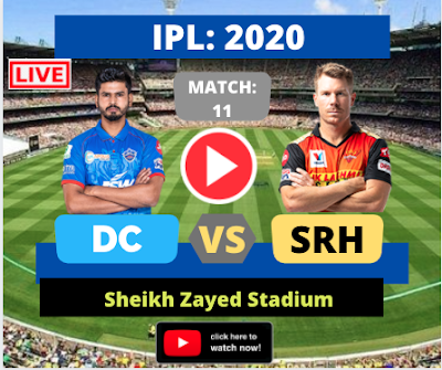 IPL 2020: Delhi vs Hyderabad, 11th Match, SRH is batting first