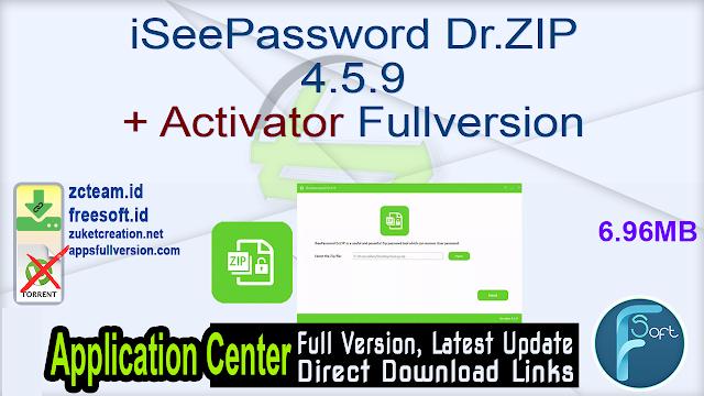 iSeePassword Dr.ZIP 4.5.9 + Activator Fullversion