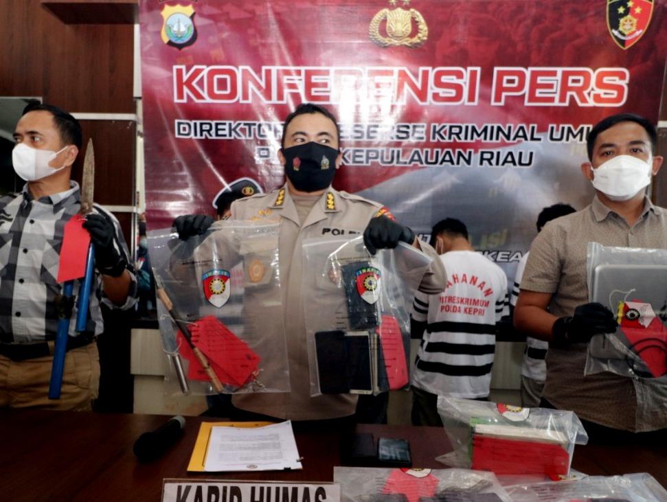 Polda Kepri Ungkap Lima Kasus, Pidana Curat dan Penadahan