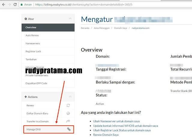 Cara Custom Domain TLD Blogger