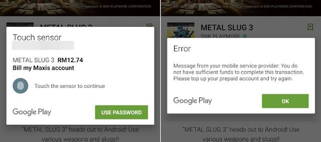 Pembelian Pertama Google Play Guna Hotlink