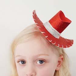 cowboy cowgirl mini hat DIY and pattern