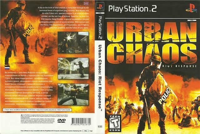 Descargar Urban Chaos - Riot Response NTSC-PAL ps2 iso: Es un shooter en primera persona juego de video desarrollado por Games Desarrollador británico Rocksteady Studios y publicado por Eidos Interactive para la PlayStation 2 y Xbox . El juego fue lanzado en la primavera de 2006 y en la actualidad sólo no de Rocksteady Batman juego.