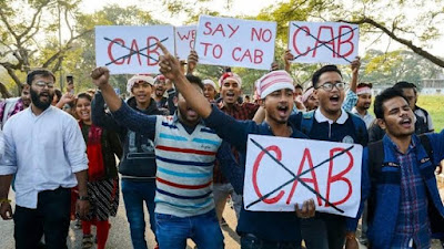 Demonstrations in the North-East states of India in protest against the Citizenship Amendment Bill (CAB)