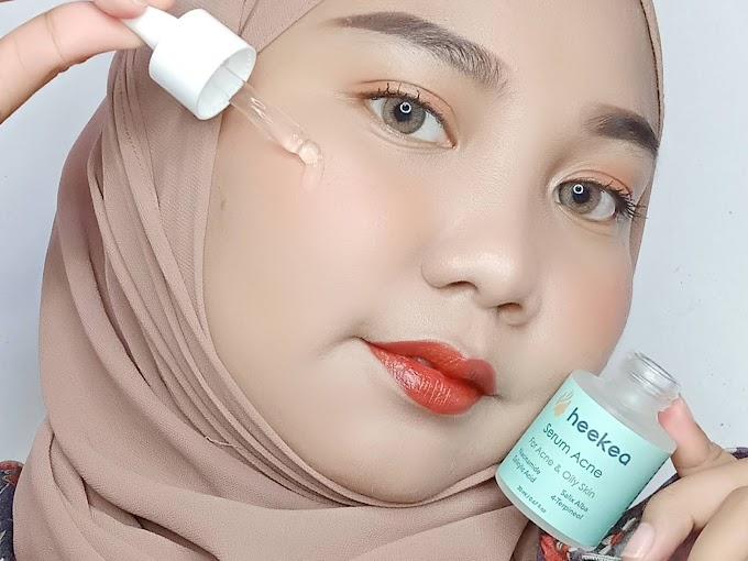 4 Minggu Memakai Heekea Brightening Serum dan Acne Serum | Review Haloanisa.com
