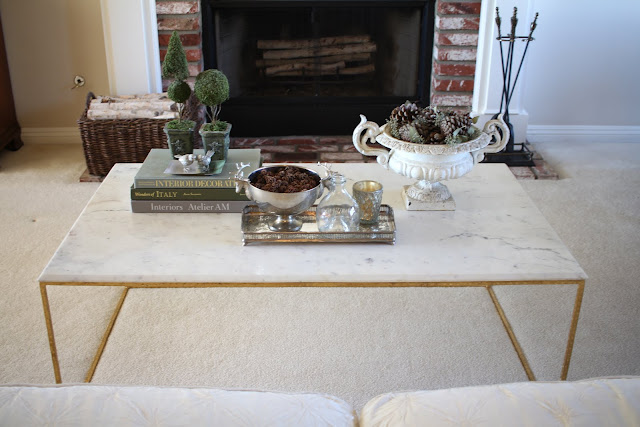 styling a coffee table blending fall and christmas 2
