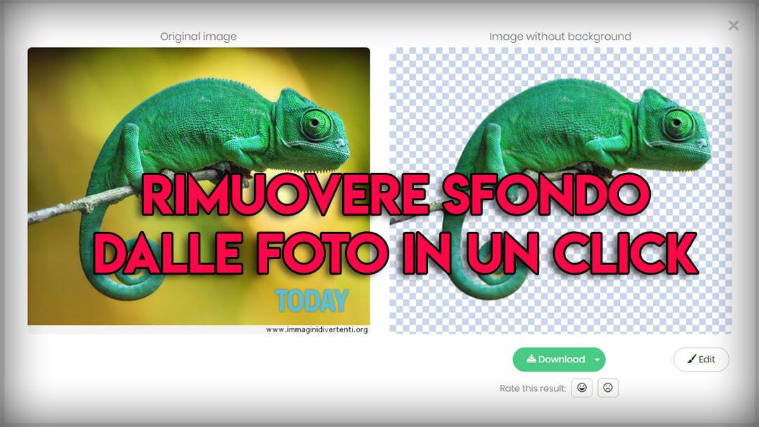 Togliere lo sfondo ad un'immagine online