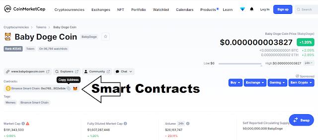 Cara Mencari Smart Contracts Token/Coin Crypto
