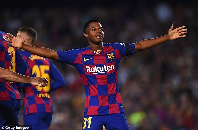 Ansu Fati Dapat Meninggalkan Barcelona pada bulan Oktober 2019
