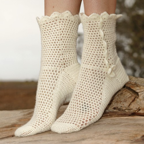 Lisbeth (Crochet Socks) - Free Pattern
