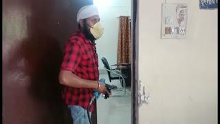कोरोनाकाल : सिंचाई विभाग को किया गया सेनेटाइज | #NayaSaberaNetwork