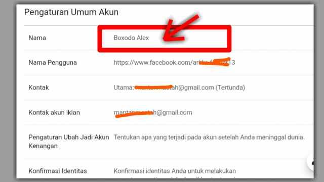 cara mengganti nama fb di web facebook