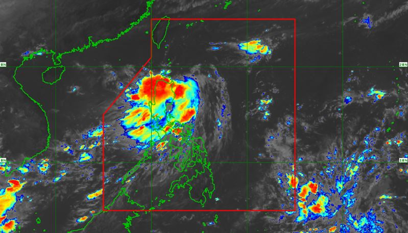 Tropical Depression Carina satellite image as of 11:00 am, July 13, 2020.