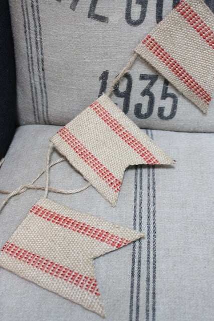 This simple burlap flag banner adds a special touch to a room