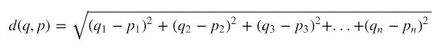 Euclidean distance for higher dimension