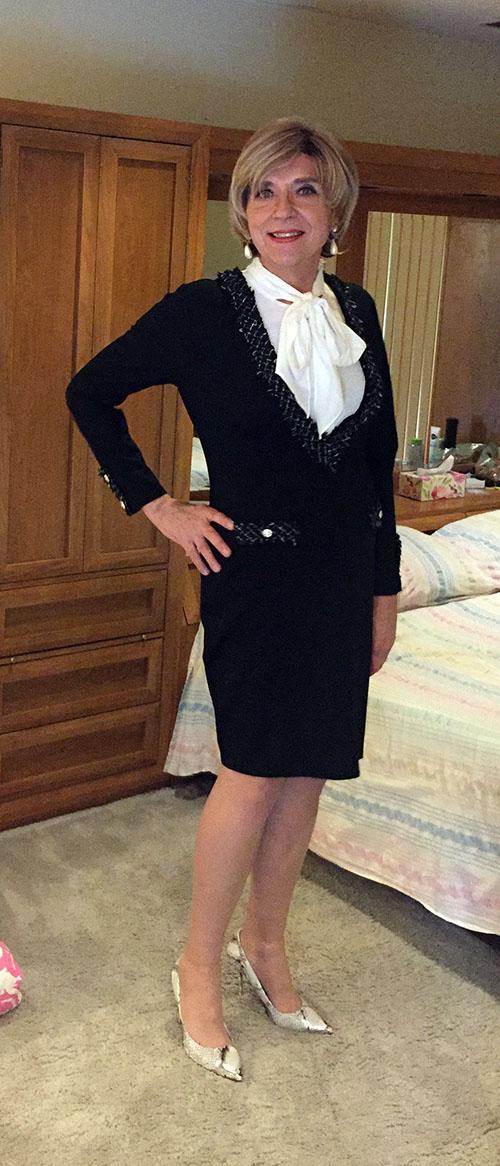 Wearing Venus dress and Nine West heels