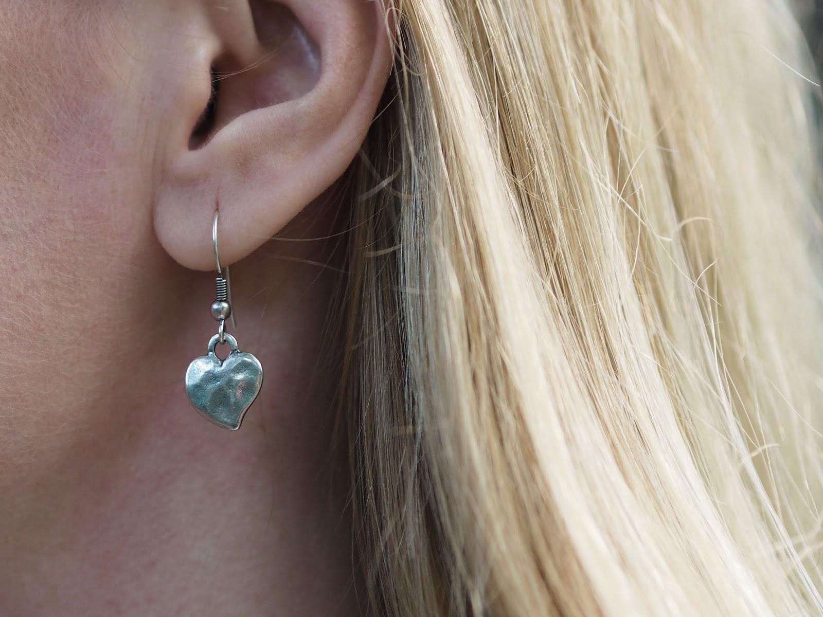 Danon heart drop earrings