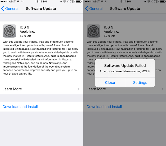 Problemas actualizacion iOS9 Apple