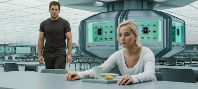 Chris Pratt (Jim Preston) y Jennifer Lawrence (Aurora Lane)