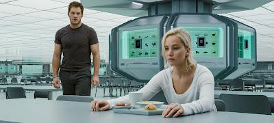 Chris Pratt (Jim Preston) y Jennifer Lawrence (Aurora Lane)