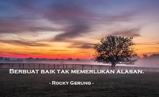 Kata Filsafat Rocky Gerung Tentang Politik Dan Kehidupan