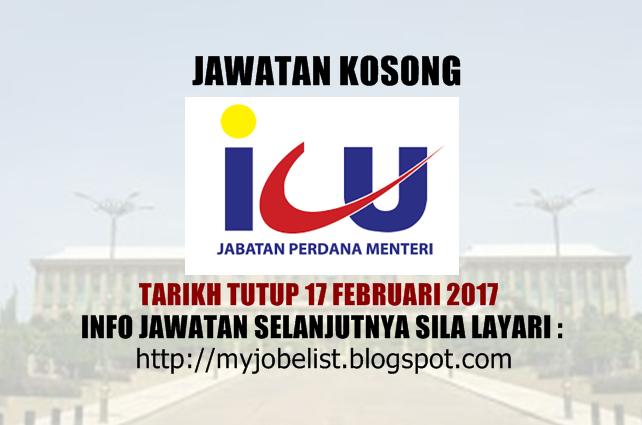 Jawatan Kosong di Jabatan Perdana Menteri (JPM) Februari 2017