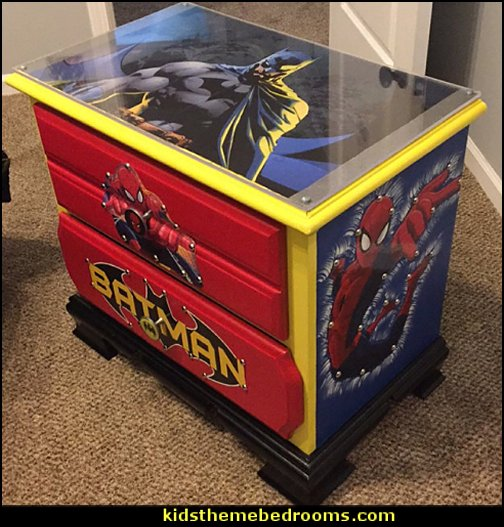 super hero decor - super heros - kids room decor - boys room decor - kids furniture - childrens furniture
