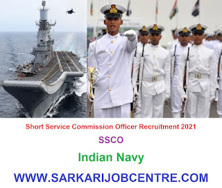 Indian Navy SSCO Short Service Commission Officer Recruitment 2021